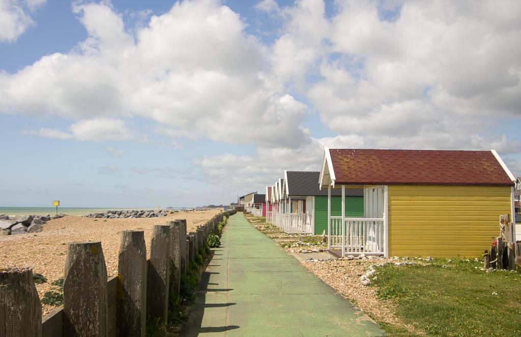 Chalets près de Brighton, Angleterre