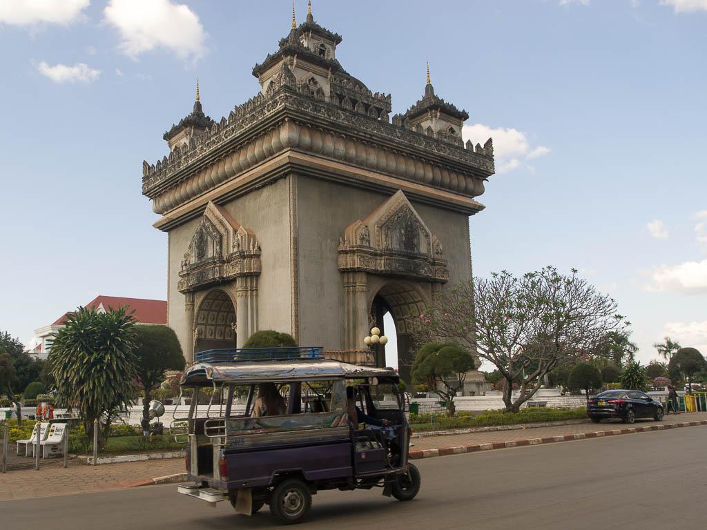 Le Patuxai à Ventiane