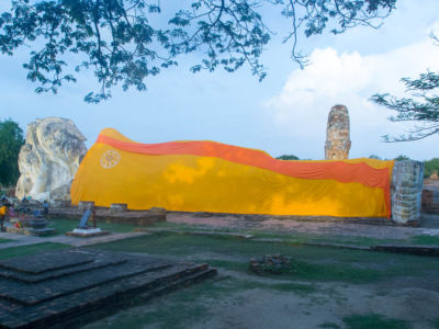 Bouddha couché à Ayutthaya