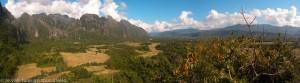 Veng Viang : panorama sur les montagnes