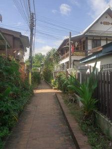 Ruelle dans Luang Prabang