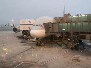 A380 sur le tarmac à Doha