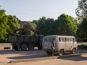 Des camions hérités de la période communiste