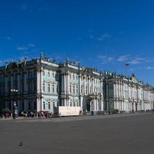 Le Palais d'Hivers qui abrite une partie du musée de l'Ermitage