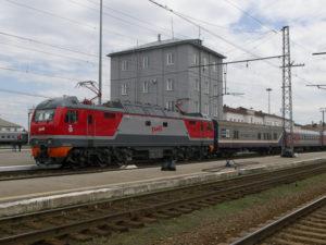 Locomotive de la compagnie RJD qui exploite la plupart des lignes.