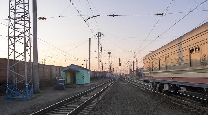 La traversée de la Russie en transsibérien.