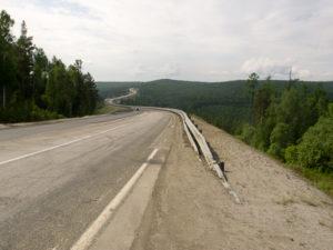 La route entre Irkoutz et le lac