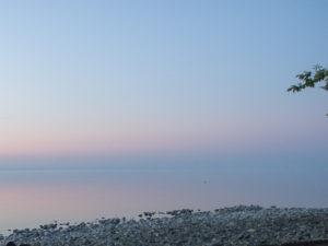 Quand le lac et le ciel se confondent.
