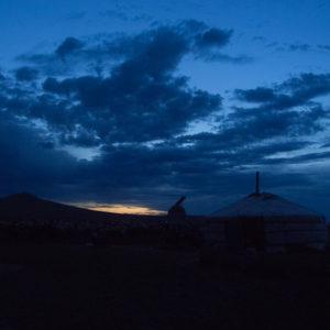 Le crespuscule sur la steppe