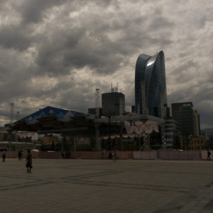 La place Gengis Khan à Oulan Bator