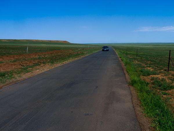 Le paysage le long de la S208