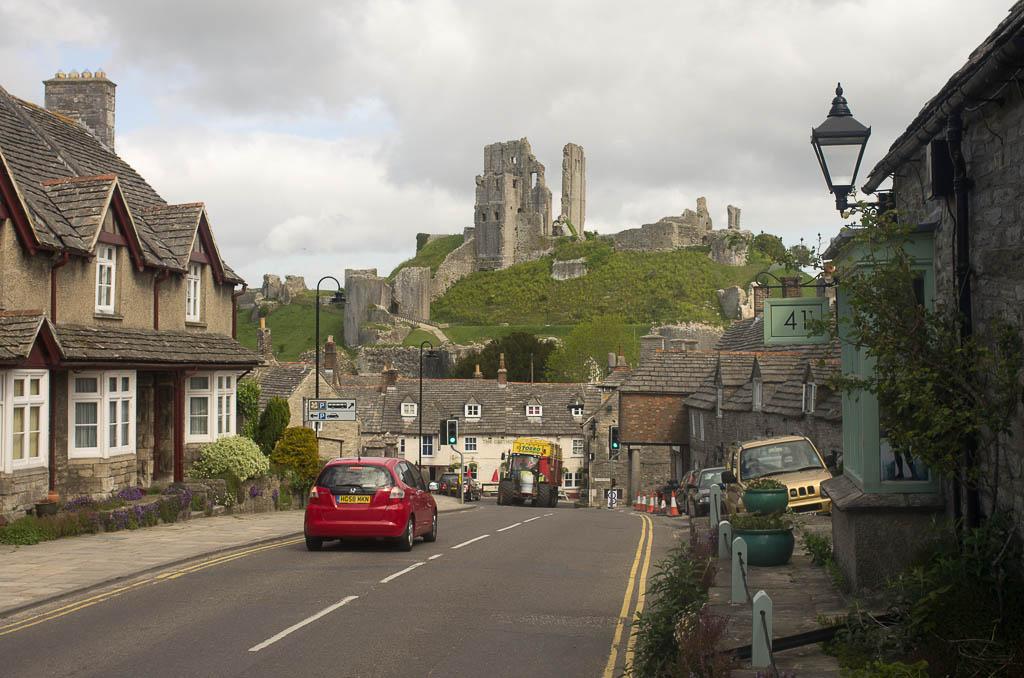 Corfe Castle près de Dorchester, Angleterre