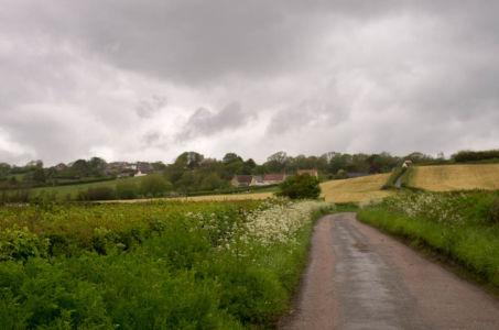 Route près de Dorchester, Dorset, Angleterre