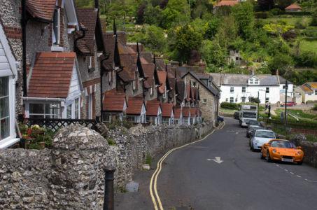 Rue d'un village anglais dans le Devon