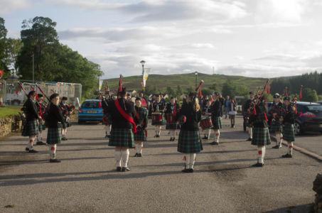 Fanfare à Lairg, Highland, Ecosse.