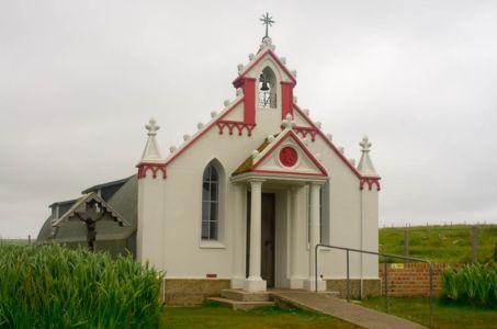 Chapelle italienne sur l'archipel des Orcades