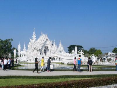 Wat Rong Khun (temple blanc) à Chiang Rai