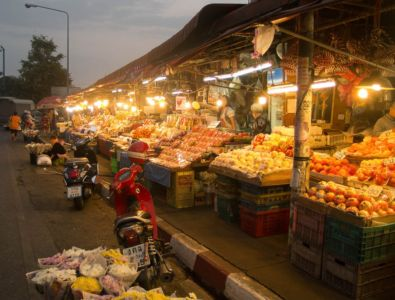 Marché de nuit à Chiang Mai